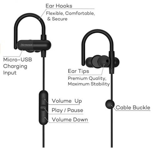 taotronics wireless headphone specs