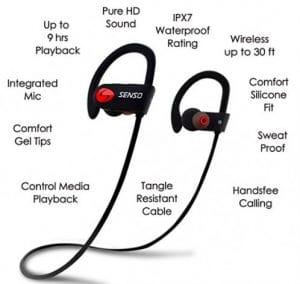 senso wireless headphone feature details