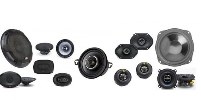 picture of collection of car speakers
